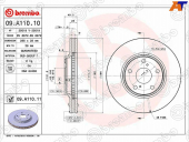 BREMBO Диск тормозной 09.A110.10 FR 09A11010