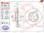 BREMBO Диск тормозной 09.A350.10 FR 09A35010