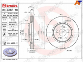 BREMBO Диск тормозной 09.A866.10 FR 09A86610